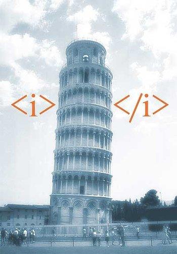 Italic Pisa Tag