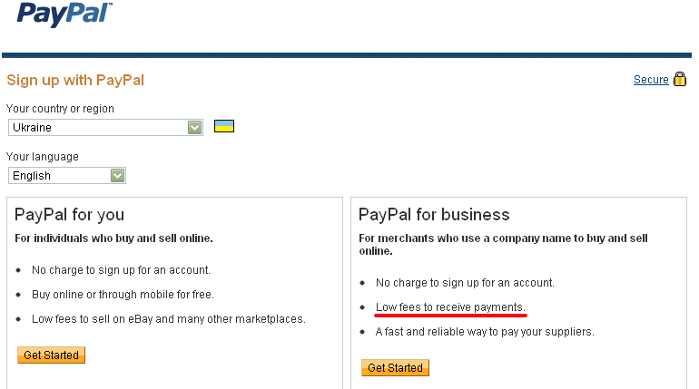 Paypal Signup Ukraine