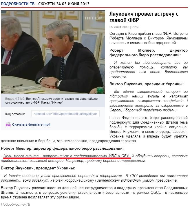 Мюллер Янукович